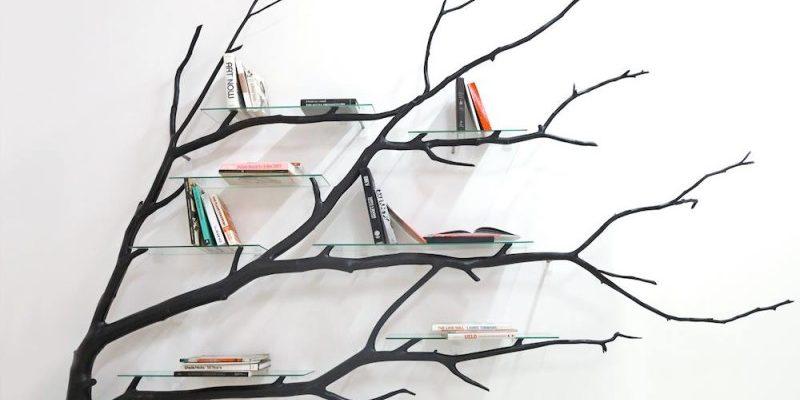 Sebastian Errazurizs Repurposed Fallen Tree Shelves - Fallen branch is repurposed to create beautifully unconventional shelf