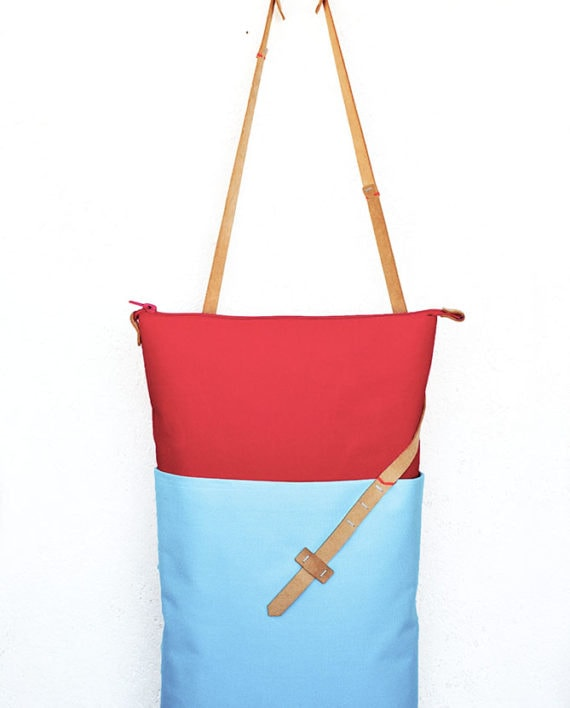color block tote - inconnulab